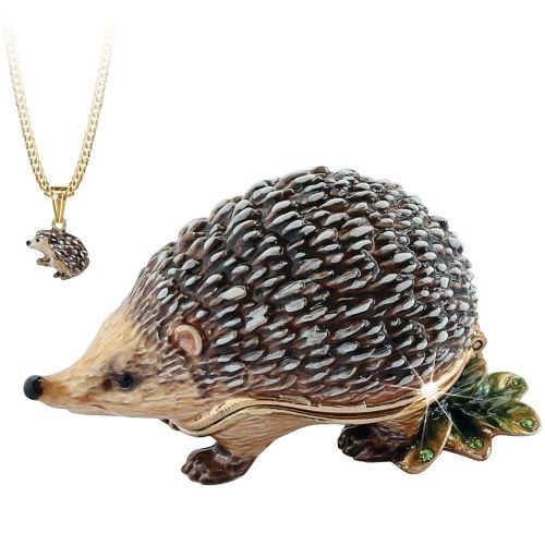 Hedgehog Trinket Box and Necklace